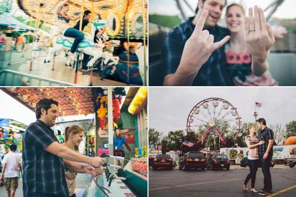 Идеи для фотосессии love story: парк аттракционов