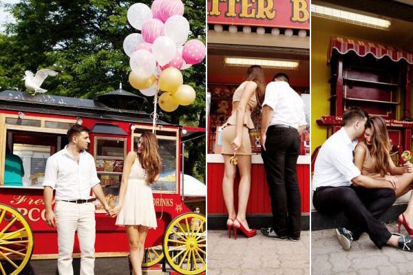 Идеи для фотосессии love story: парк развлечений
