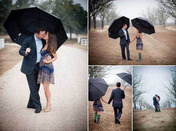 Идеи для фотосессии love story: с зонтами