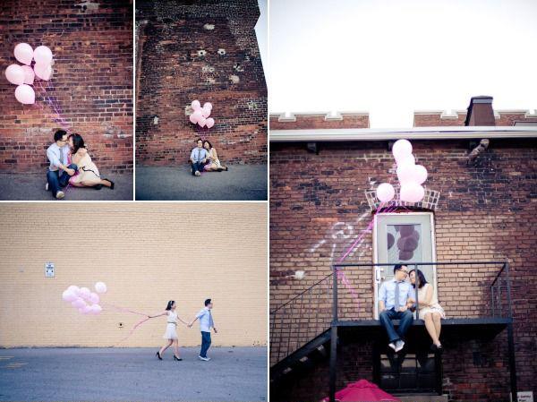 Идеи для фотосессии лав стори: воздушные шары