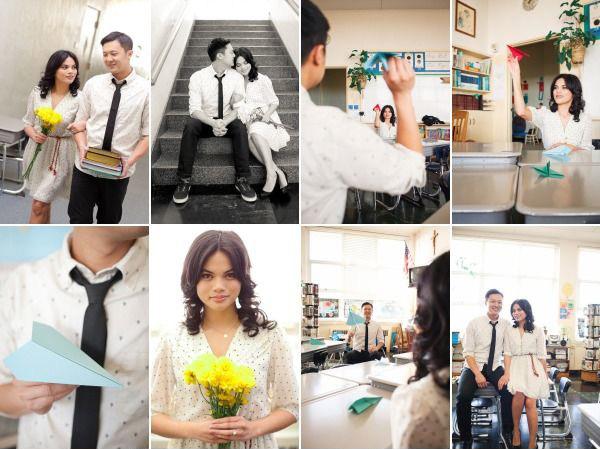 Идеи для фотосессии love story: учеба