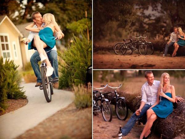 Идеи для фотосессии love story: на велосипедах