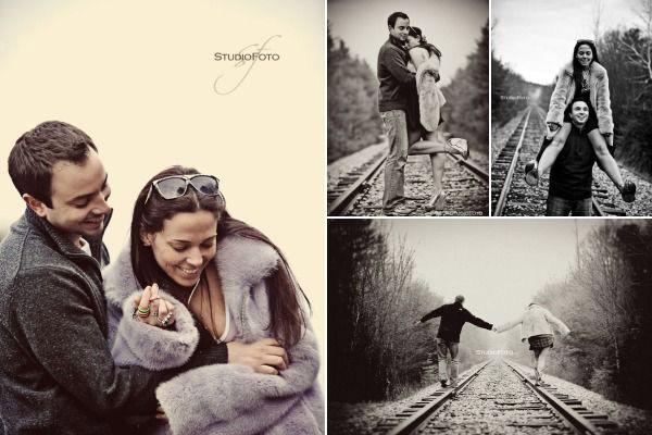 Идеи для фотосессии love story: железная дорога