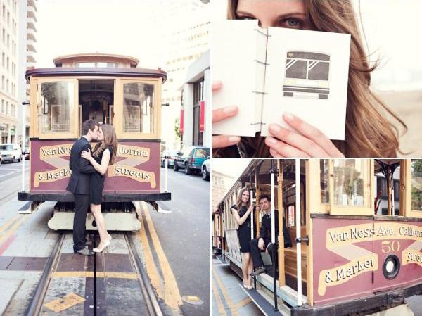 Идеи для фотосессии love story: в общественном транспорте