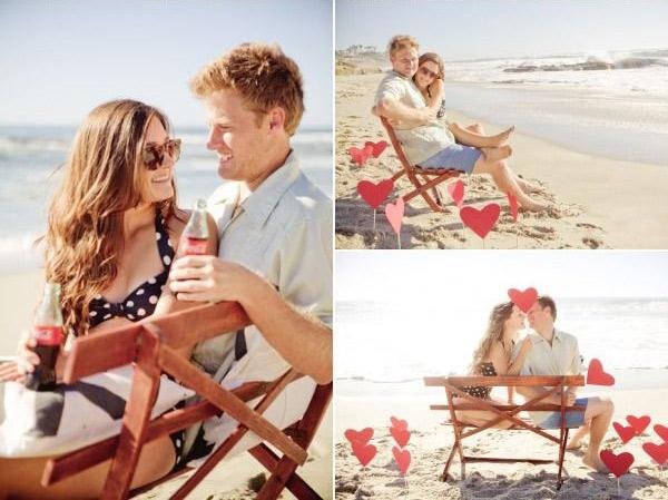 Идеи для фотосессии love story: пляж