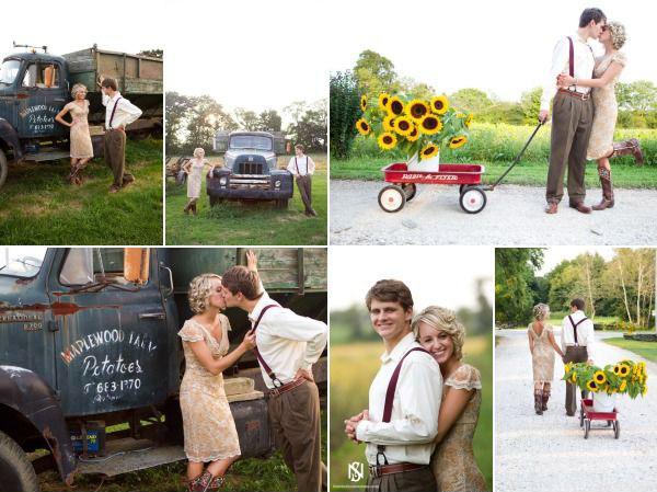 Идеи для фотосессии love story: подсолнухи